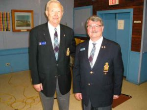 Bud Berntson, RCAFA Atlantic Group, Regional Vice President for Nova Scotia and Greg Spradbrow, National Rep for The RCAFA at the Group AGM in Amherst , Sunday May 15, 2016