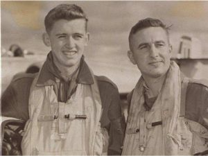 Navigator Kenneth D. Thomas, left, and pilot William J. Schmidt were likely incapacitated by oxygen failure in their CF-100 jet.
